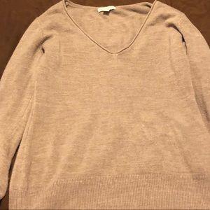 Women's beige vneck NYAC sweater